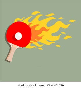 """Ping-pong is on fire"""" vector"""