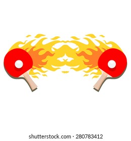 "Ping-pong is on fire"" vector"