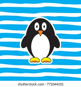 pinguin cartoon vector for kids background