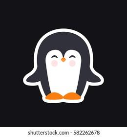 pinguin icon. vector illustration