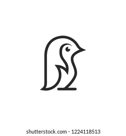 pinguin logo template download graphic abstrack