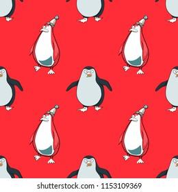 pinguins seamless pattern