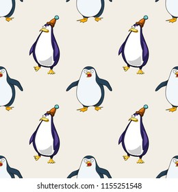 pinguins seamless pattern