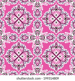 Pink absract Seamless pattern vector background for gift wrap