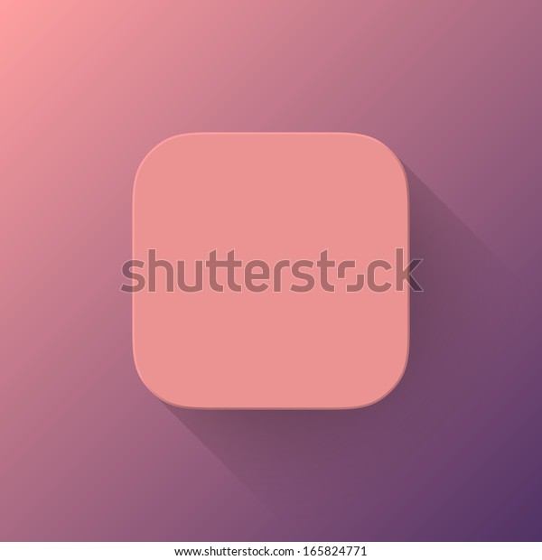 Pink Abstract App Icon Blank Button Stock Vector (Royalty Free