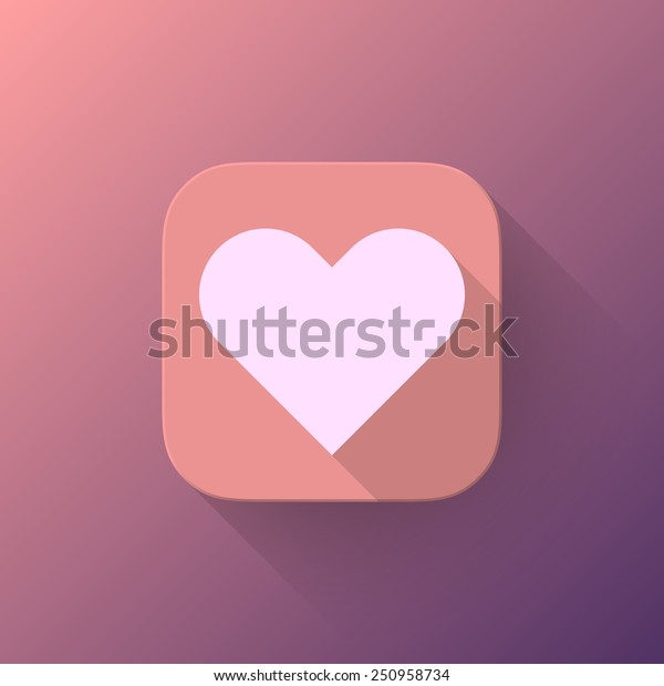 Pink Abstract App Icon Light Valentines Stock Vector