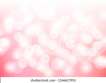 pink abstract blurred light bokeh background ,pattern