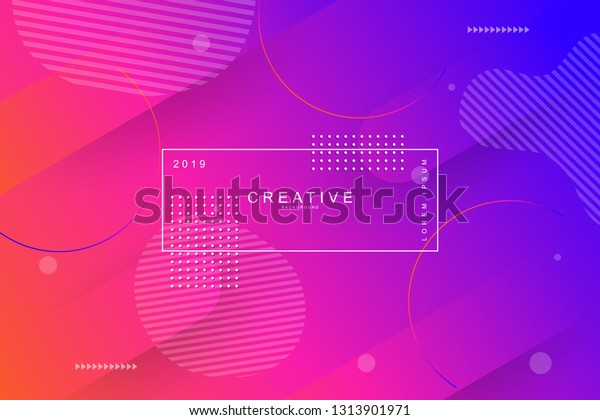 Pink Abstract Cool Background Curve Shape Stock Vector