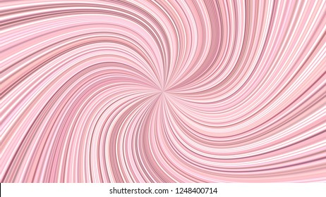 Pink abstract hypnotic striped spiral background design - vector graphic from curved rays