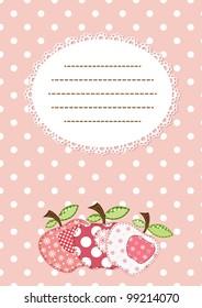 pink apple patchwork background