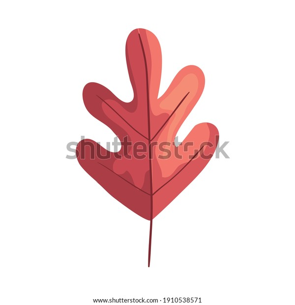 pink autumn leaf plant foliage icon vector illustration design