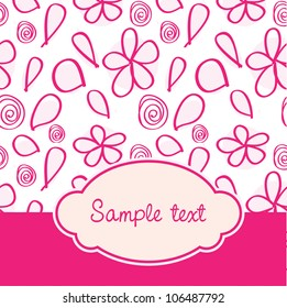 Pink baby cover with seamless pattern in vector format
