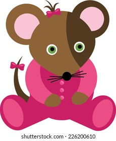 Pink Baby Girl Mouse Cartoon