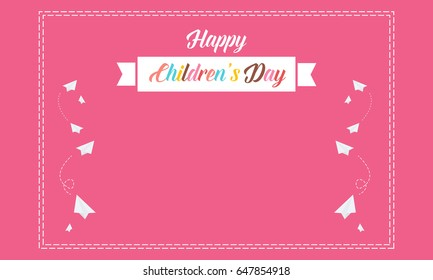 Pink background cute for children day