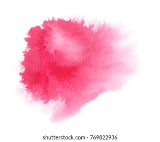 Pink background stain with paint stroke and splashes