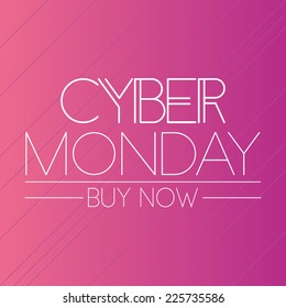 a pink background with text for cyber monday
