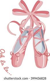 pink ballet shoes, Ooh La La