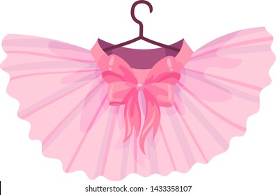 Pink ballet tutu. Vector illustration on white background.