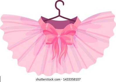 Pink ballet tutu. Vector illustration on white background.
