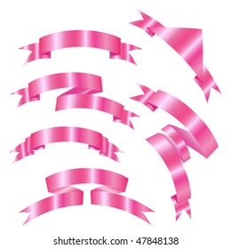 pink banners