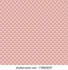 Pink beige pattern with small bubbles. Vector seamless pattern
