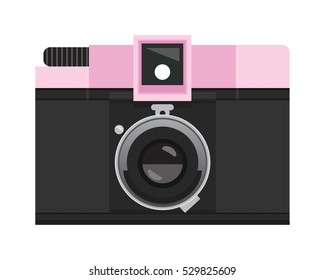 Pink and Black Analog Film Camera