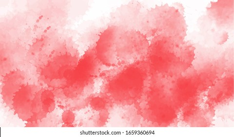 Pink blots  watercolor background for your design, watercolor background concept, vector.