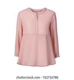 Pink blouse. Vector illustration.