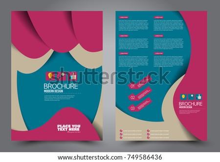 pink blue flyer template design brochure stock vector royalty free