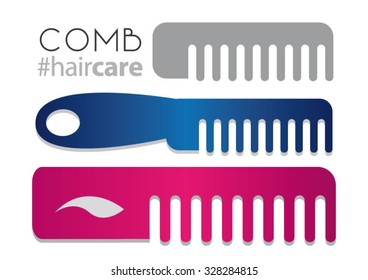 Pink, Blue And Gray Combs For Hair