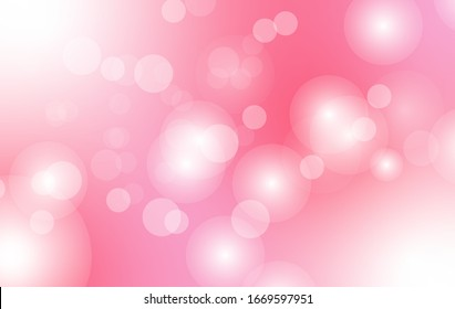 Pink bokeh background. wallpaper for banner social media advertising. romantic style. Valentines and women's day concept. Vector