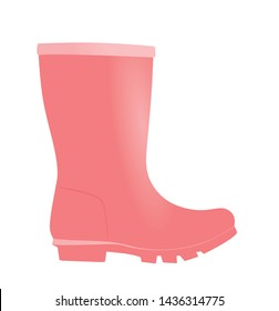 Pink boot wellie. vector illustration