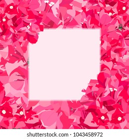 Pink bougainvillea / paper flower vector graphic template, all out pastel pink palette