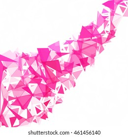 Pink Break Mosaic Background, Creative Design Templates