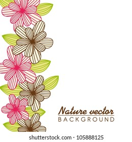 pink and brown cute flower with space for copy. vector