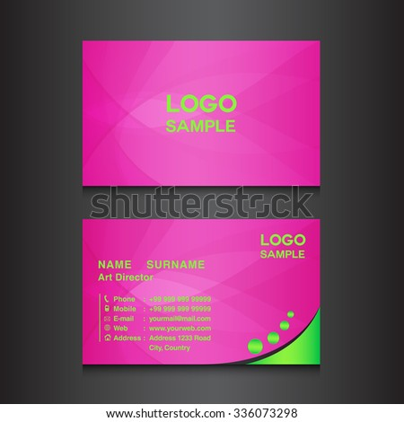 Pink business card design template vector stock vector royalty free pink business card design template vector illustration wajeb Choice Image