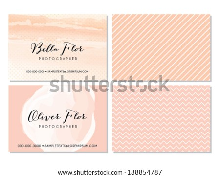 Pink business card template stock vector royalty free 188854787 pink business card template flashek Choice Image