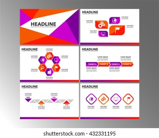 Pink business presentation template vector design