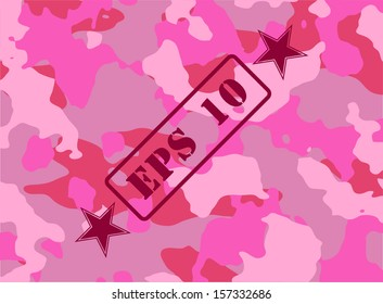 Pink camouflage for the background. Vector illustration