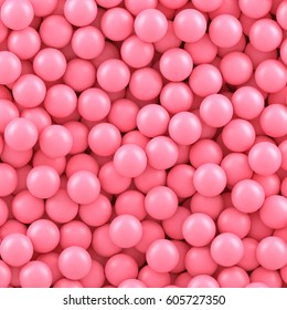 Pink candy balls background.