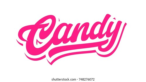 Pink Candy lettering vector