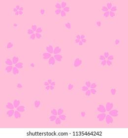pink cherry blossom(Sakura) background, vector and illustration