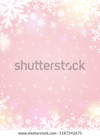 pink-christmas-background-white-blurred-
