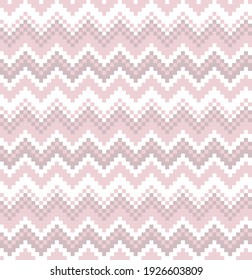 Pink Christmas fair isle pattern background for fashion textiles, knitwear and graphics