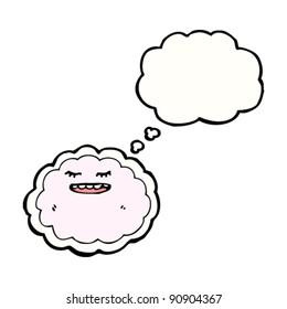 pink cloud cartoon character