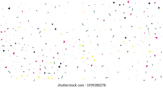 Pink Confetti Element. Purple Anniversary Bright. Yellow Carnival Year. Festive Holiday. Green Vector Card. Decoration Wallpaper. Party Graphic. Falling Wedding.
