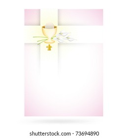 Pink cross design for first communion