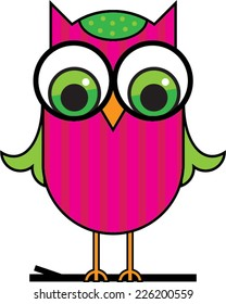 Pink Cute Cartoon Owl