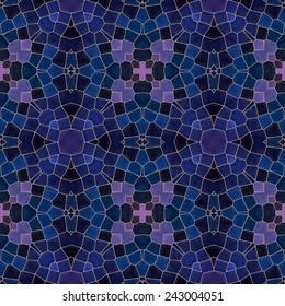 pink and dark blue mosaic seamless pattern, vector illustration, eps 10