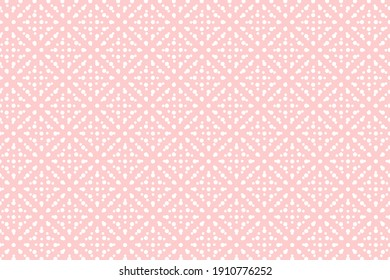 Pink decorated background for Valentines Day, Wedding, Mother Day Greeting Card. Festive backdrop